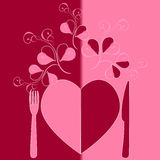 Menu Valentine's Day. Royalty Free Stock Photography