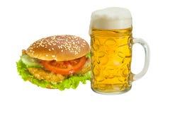 Menu van snelle voedingsmiddelen Stock Foto