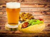 Menu van snelle voedingsmiddelen Royalty-vrije Stock Foto