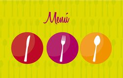 Menu vector Royalty Free Stock Image