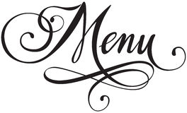 Menu. Vector version of my own calligraphy Royalty Free Stock Photography