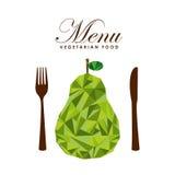 Menu vegetarian food design. Illustration eps10 graphic Stock Images