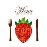 Menu vegetarian food design. Illustration eps10 graphic Royalty Free Stock Images