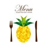 Menu vegetarian food design. Illustration eps10 graphic Royalty Free Stock Photography