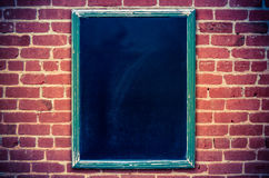 Menu vide de tableau noir de restaurant Image libre de droits