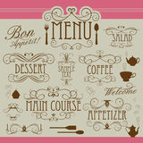 Menu vintage ornament Royalty Free Stock Photo