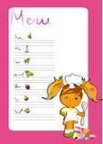 Menu voor kinderen vector illustratie