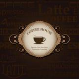 Menu voor restaurant, koffie, staaf, coffeehouse Stock Afbeelding