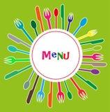 Menu voor restaurants Stock Foto