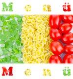 Menu, Włoski menu Obrazy Royalty Free