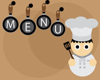 Menu Wallpaper. Menu cooker cartoon illustration wallpaper Royalty Free Stock Photo