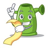 With menu watering can character cartoon Stock Image