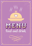 Menu in western style Stock Images