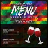 Menu wine design Stock Photos