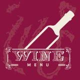 Menu wine design Stock Image
