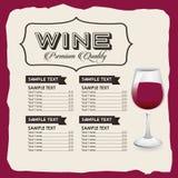 Menu wine design Royalty Free Stock Images