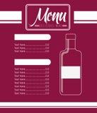 Menu wine design Royalty Free Stock Photos