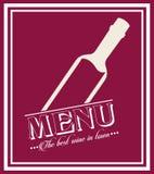 Menu wine design Stock Photo