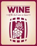 Menu wine design Royalty Free Stock Photo