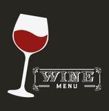 Menu wine design Royalty Free Stock Image