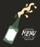Menu wine design Royalty Free Stock Photography