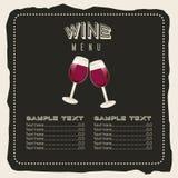 Menu wine design Stock Photography