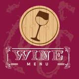 Menu wine design Stock Images