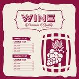Menu wine design. Illustration eps10 graphic vector illustration