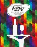 Menu wine design. Illustration eps10 graphic royalty free illustration