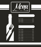 Menu wine design. Illustration eps10 graphic stock illustration