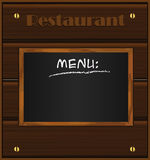 Menu wood board Black Stock Images