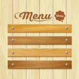 Menu wood board design background Stock Image