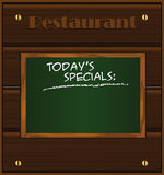 Menu wood board green Stock Photos