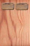 Menu wood on wood wall Royalty Free Stock Photography