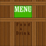 Menu of wooden planks Royalty Free Stock Photos