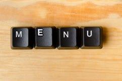 Menu word Stock Photos