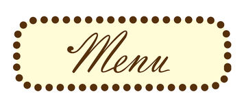 Menu Word Text Header Royalty Free Stock Images