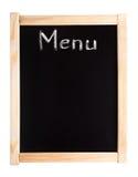 Menu written on blackboard Stock Image