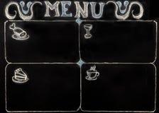 Menu is written on chalk Board Royalty Free Stock Photo