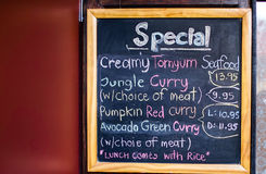 Menu written in chalk Royalty Free Stock Images