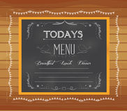 Menu written on chalkboard Stock Photos