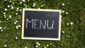 Menu written Royalty Free Stock Images