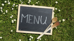 Menu written Royalty Free Stock Photography