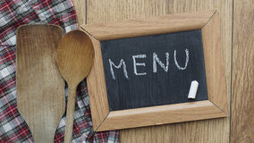 Menu written Royalty Free Stock Photos