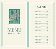 Menu with your hands Stock Photo