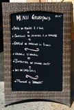 menu znak Fotografia Stock