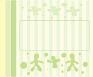 Menu2_3. Abstract illustration with a text field Stock Illustration