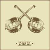 menu2页意大利面食 免版税库存照片