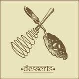 Menu2 - de Pagina van Desserts Stock Foto