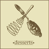 Menu2 - Pagina dei dessert Fotografia Stock